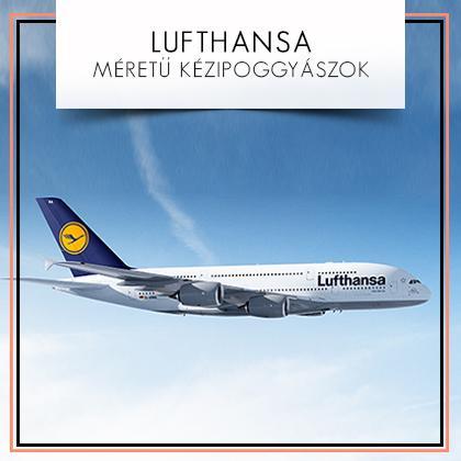 Lufthansa méretű kézipoggyászok: A Lufthansa fedélzetére ingyenesen felvihető 1 darab 50x40x23cm kézipoggyász, vagy 1 darab 57x54x15cm összehajtható ruhatartó z...