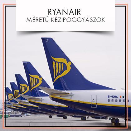 Ryanair méretű kézipoggyászok: A Ryanair fedélzetére ingyenesen felvihető egy db kézipoggyász 55*40*20cm méretben, valamint egy db kis kézitáska, maximum 35*20*...