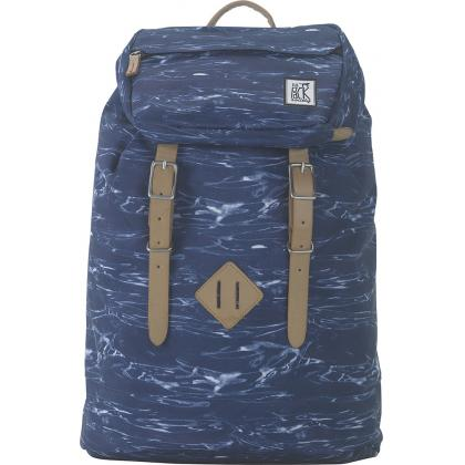 The Pack Society Premium Backpack Blue Waves Allover Kék Unisex Hátizsák
