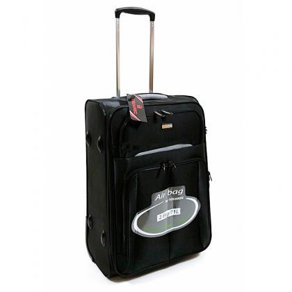 Touareg 6114 L Fekete Unisex Puhafedeles bőrönd