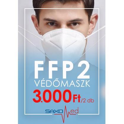 FFP2 Védőmaszk 2db/Csomag Fehér