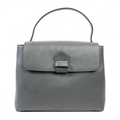 Bags and more Acele Szürke Női Bőr Kézitáska