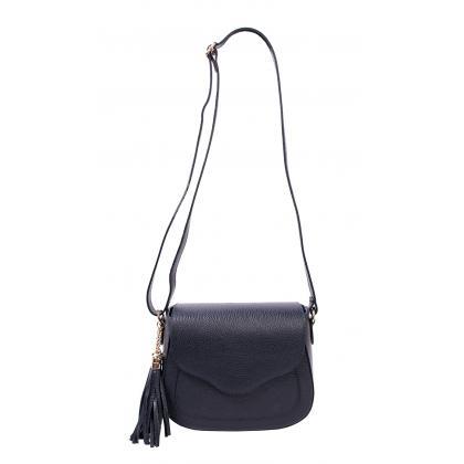 Bags and More Adele Sötét kék Női Bőr Oldaltáska