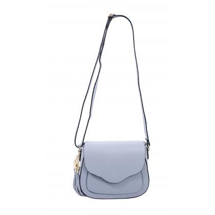 Bags and More Adele Világos kék Női Bőr Oldaltáska