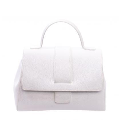 Bags and more Amy Fehér Női Bőr Kézitáska