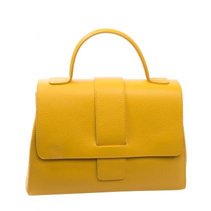 Bags and more Amy Sárga Női Bőr Kézitáska