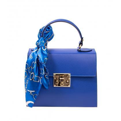 Bags and more Anett Király Kék Női Bőr Kézitáska
