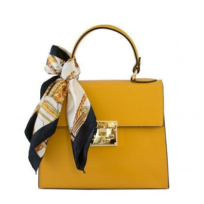 Bags and more Anett Ősz sárga Női Bőr Kézitáska
