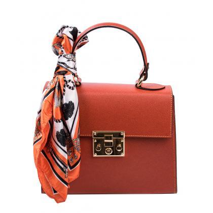 Bags and more Anett Tégla Piros Női Bőr Kézitáska