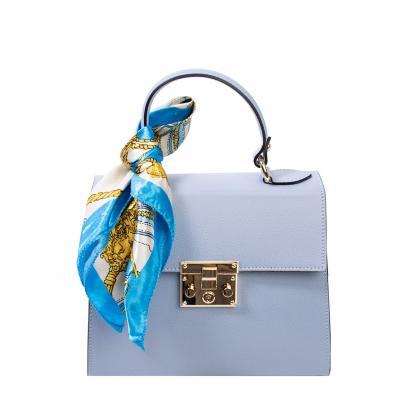 Bags and more Anett Világos kék Női Bőr Kézitáska