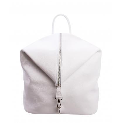Bags and more Aria Fehér Női Bőr Hátizsák