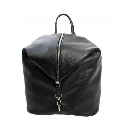 Bags and more Aria Fekete Női Bőr Hátizsák