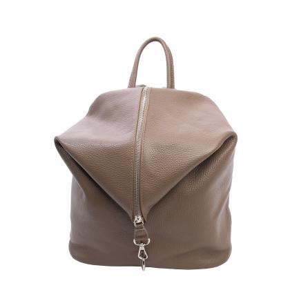 Bags and more Aria Homok Női Bőr Hátizsák