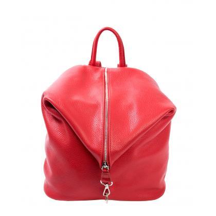 Bags and more Aria Piros Női Bőr Hátizsák