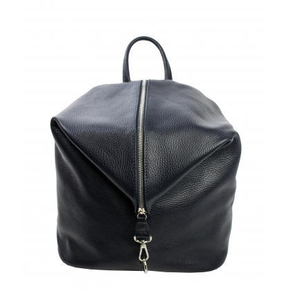 Bags and more Aria Sötétkék Női Bőr Hátizsák