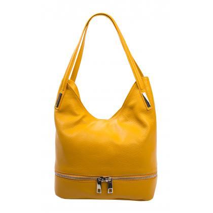Bags and more Ariana Ősz sárga Női Bőr Válltáska
