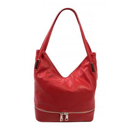 Bags and more Ariana Piros Bőr Női Válltáska