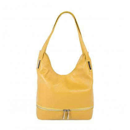 Bags and more Ariana Sárga Bőr Női Válltáska