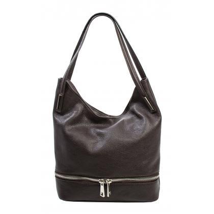 Bags and more Ariana Sötét barna Női Bőr Válltáska
