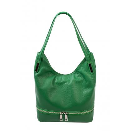 Bags and more Ariana Zöld Bőr Női Válltáska