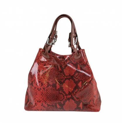 Bags and more Beatrice Piros Bőr Női Kézitáska