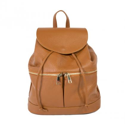 Bags and more Becky Bőr Világos barna Női Hátizsák 827af12200