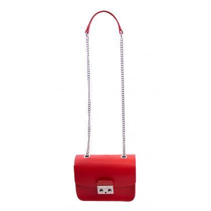 Bags and more Betty Piros Női Bőr Oldaltáska