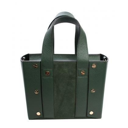 Bags and more Bianca Sötét zöld Női Bőr Kézitáska