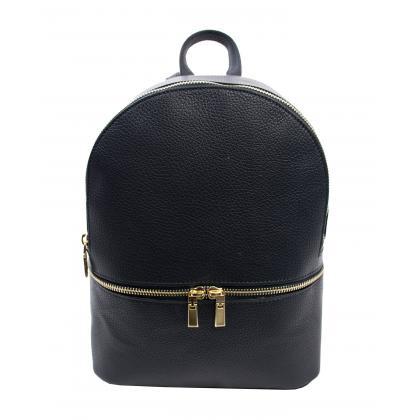 Bags and More Charlotte Sötét kék Női Bőr Hátizsák