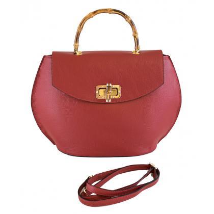 Bags and more Ciana Piros Női Bőr Kézitáska
