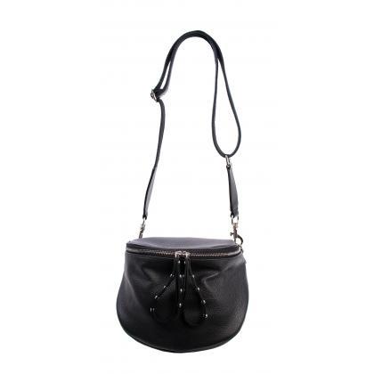 Bags and More Claire Fekete Női Bőr Oldaltáska