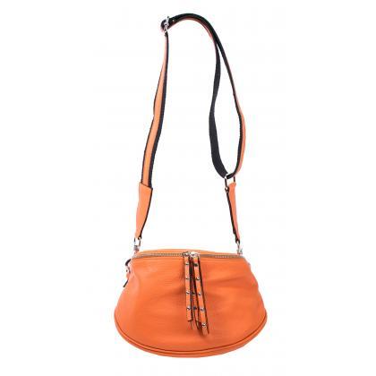 Bags and More Claire Narancssárga Női Bőr Oldaltáska
