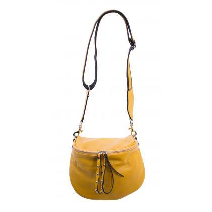 Bags and more Claire Ősz sárga Női Bőr Oldaltáska