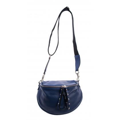 Bags and More Claire Sötét kék Női Bőr Oldaltáska