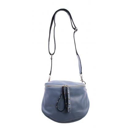 Bags and More Claire Világos kék Női Bőr Oldaltáska