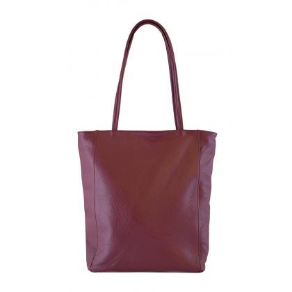 Bags and more Concetta Burgundi Női Bőr Válltáska