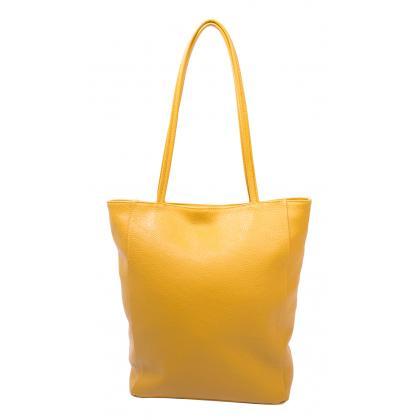 Bags and more Concetta Ősz sárga Női Bőr Válltáska