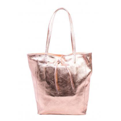 Bags and more Concetta Rosegold Női Bőr Válltáska
