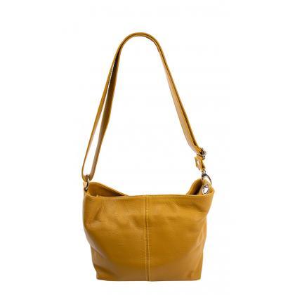 Bags and more Dezi Ősz sárga Női Bőr Oldaltáska