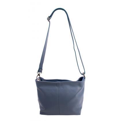 Bags and more Dezi Világos kék Női Bőr Oldaltáska