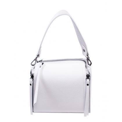 Bags and More Diana Fehér Női Bőr Kézitáska