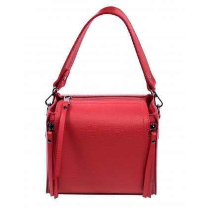 Bags and More Diana Piros Női Bőr Kézitáska