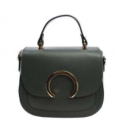 Bags and more Dion Sötét zöld Női Bőr Kézitáska