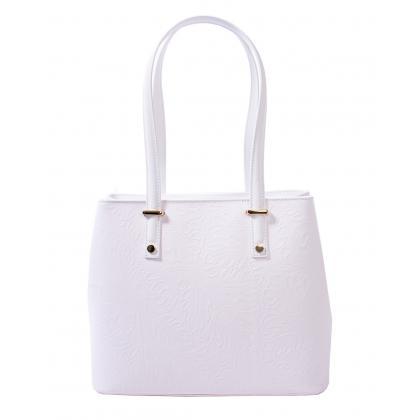 Bags and more Donnylyn Fehér Női Bőr Válltáska