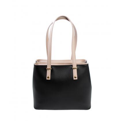 Bags and more Donnylyn Fekete Női Bőr Válltáska