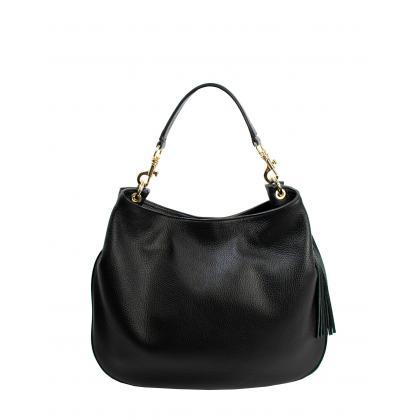 Bags and more Drina Fekete Női Bőr Válltáska