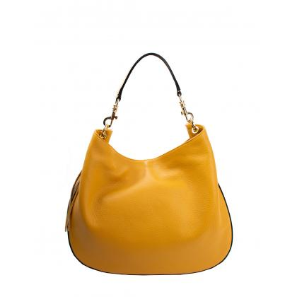Bags and more Drina Ősz sárga Női Bőr Válltáska