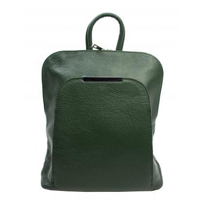 Bags and more Esta Zöld Bőr Női Hátizsák