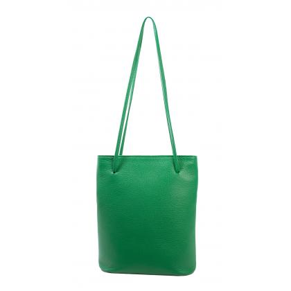 Bags and more Eveline Zöld Női Bőr Válltáska
