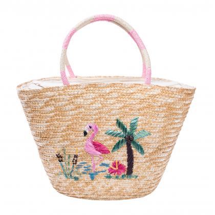 Bags and More Flamingo Bézs Női Strandtáska